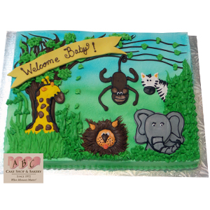 Giraffe Baby Shower Sheet Cake