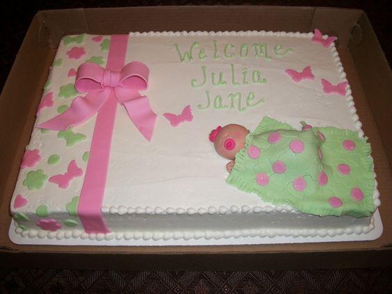 Girl Baby Shower Sheet Cake Ideas