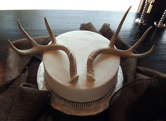 Grooms Cake Deer Antlers