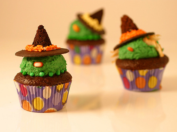 Halloween Wicked Witch Cupcakes