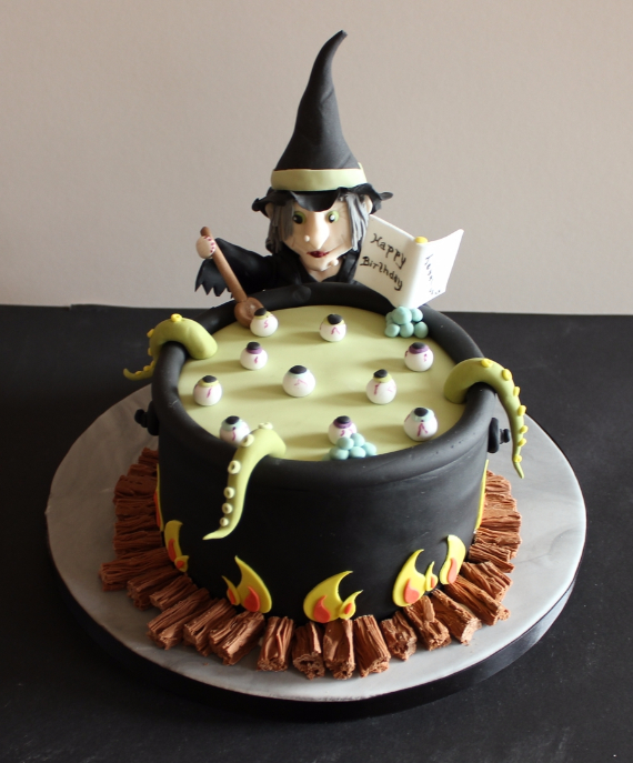 Halloween Witch Birthday Cake