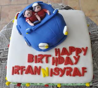 Happy Birthday Cake Sports Car