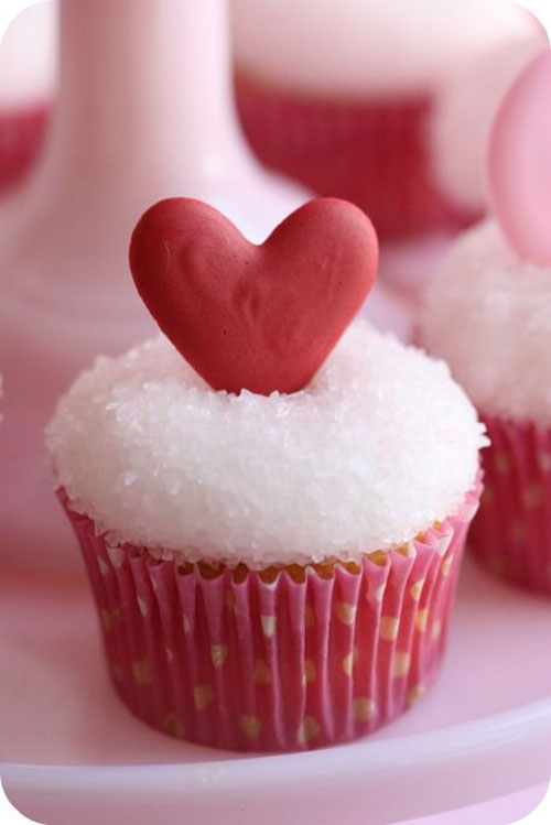 Heart Valentine's Day Cupcakes