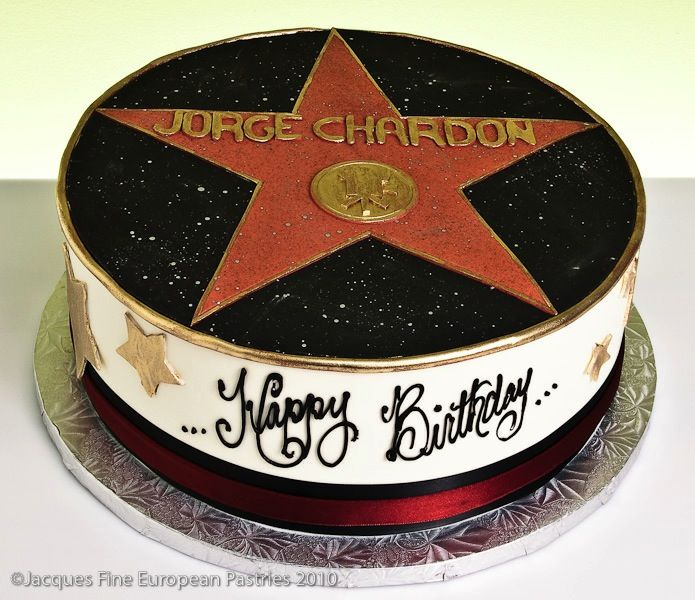 Hollywood Star Birthday Cake