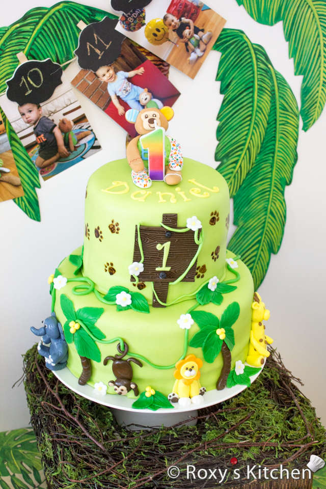Jungle Animals Birthday Cake Idea