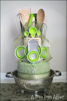 Kitchen Themed Towel Cake