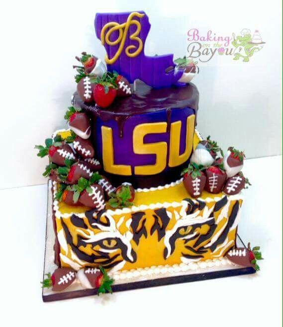 LSU Graduation Cake Ideas