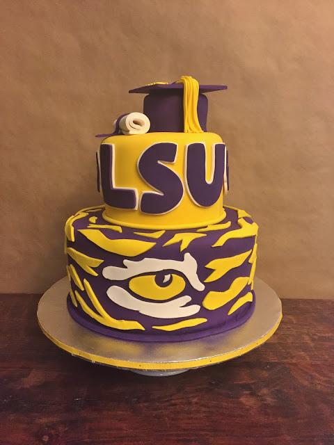 LSU Graduation Cake