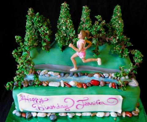 Marathon Runner Birthday Cake