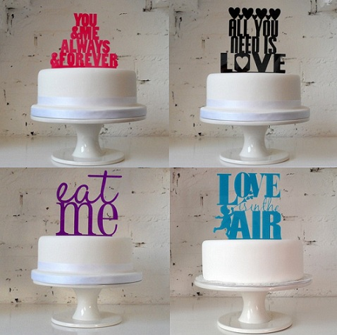 Modern Wedding Cake Toppers