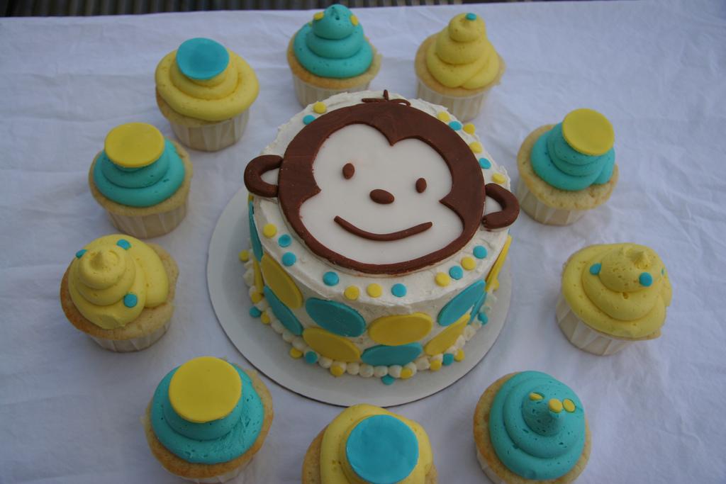 Monkey Cake Ideas Birthday Cupcakes
