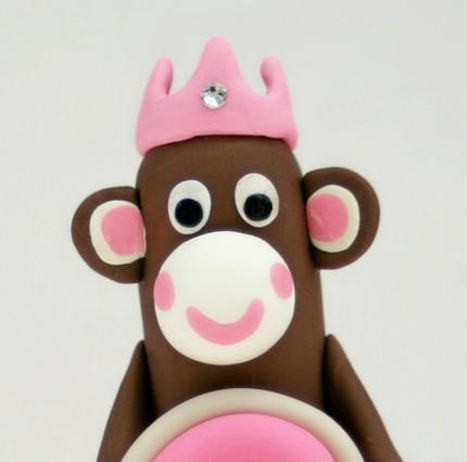 Monkey Princess Birthday Cake
