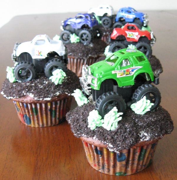13 Photos of Truck Birthday Cupcakes For Boys