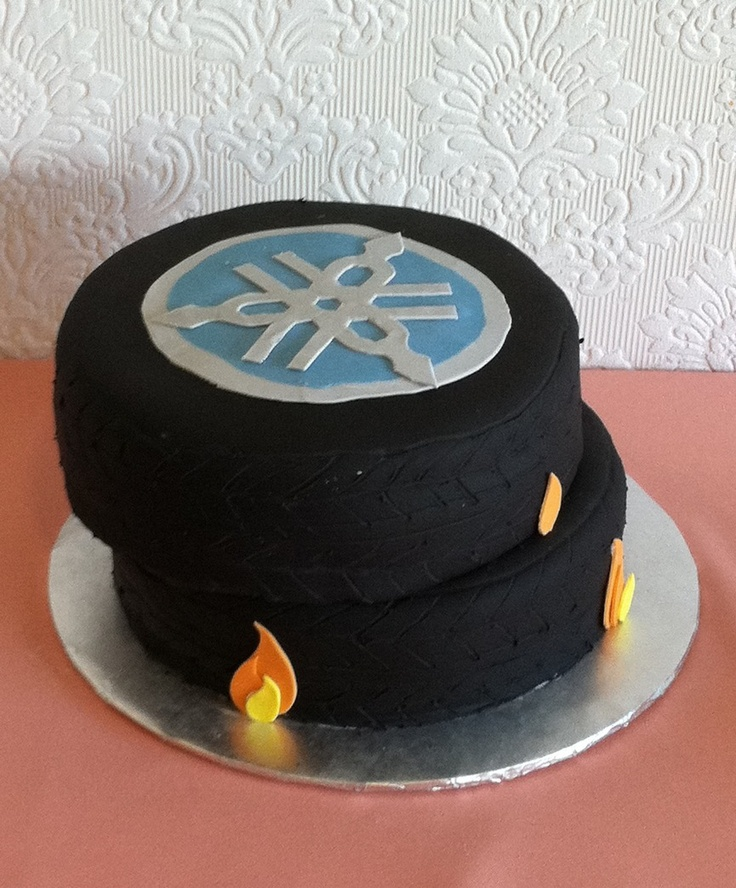 Motorcycle Tire Cake