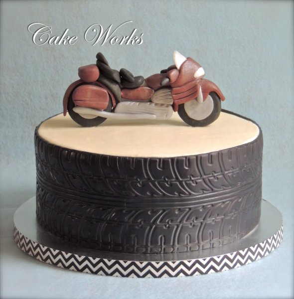 Motorcycle Tire Wedding Cake