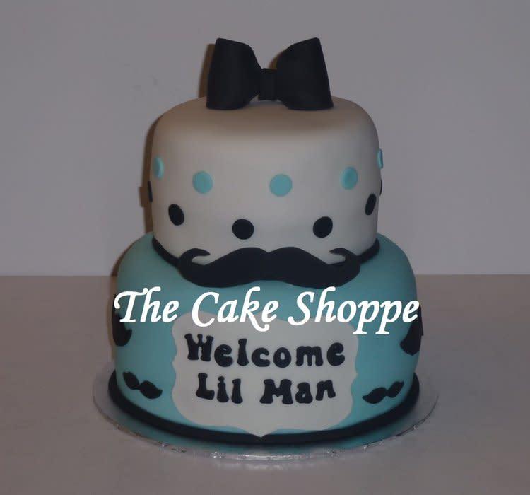 Mustache Themed Baby Shower Cake