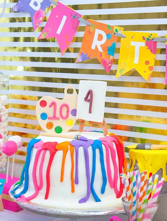Neon Themed Birthday Party