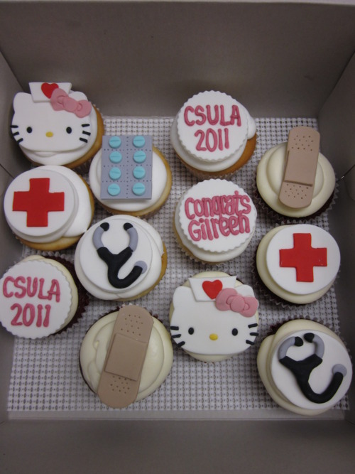 Nurse Hello Kitty Cupcakes