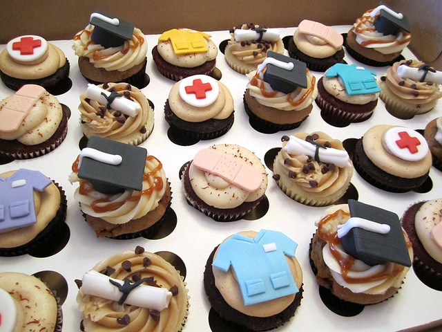 Nursing School Graduation Cupcakes