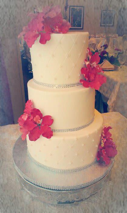 Orchid Buttercream Wedding Cake