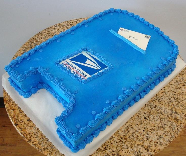 Post Office Retirement Cake
