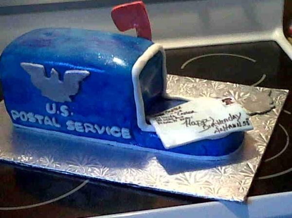 Postal Retirement Cake