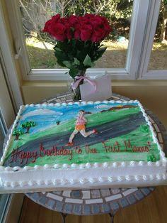 Running Birthday Cake