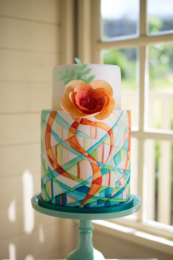 Simply Modern Wedding Cake