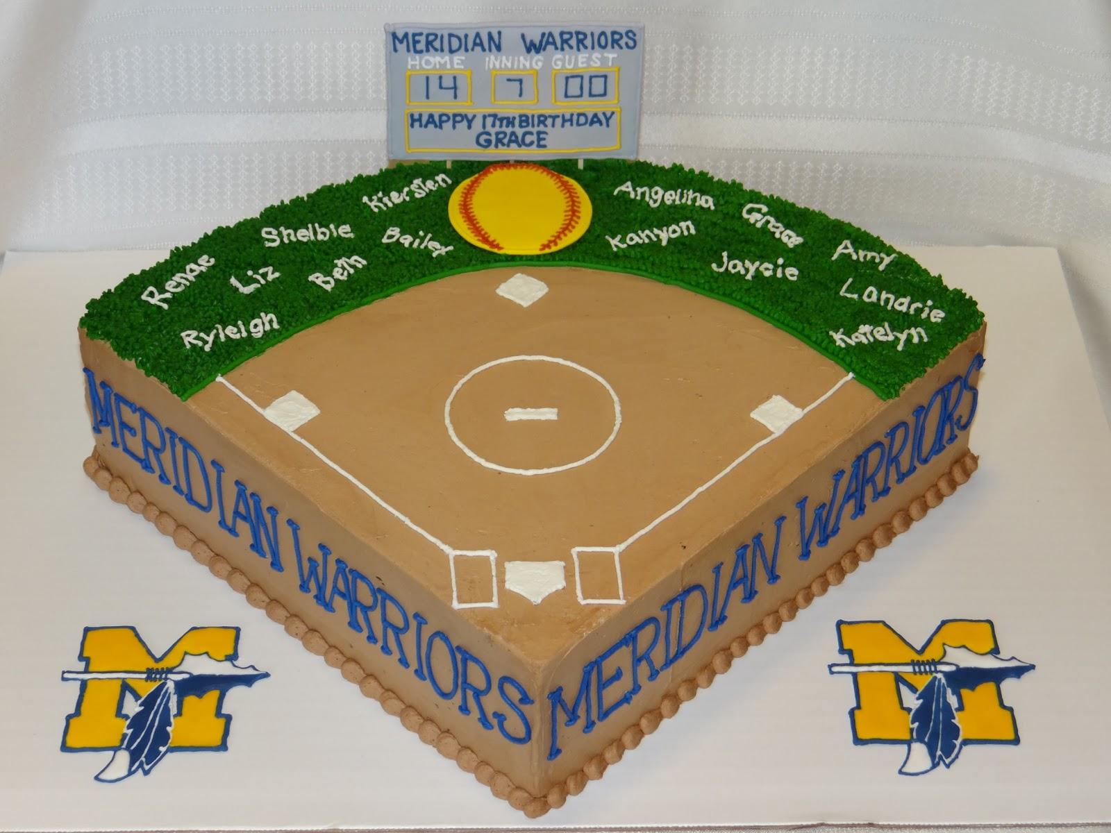 Softball Field Cake