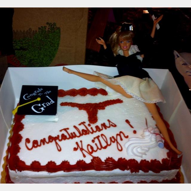 Texas Longhorn Graduation Cake