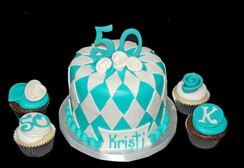 Tiffany Blue Cupcake Tower