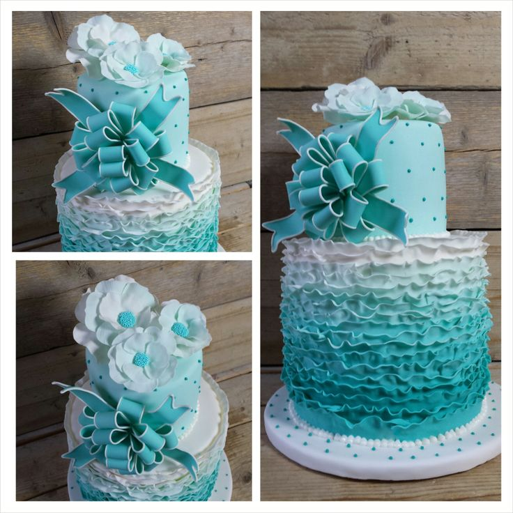 9 Photos of Sweet 15 Cakes Blue