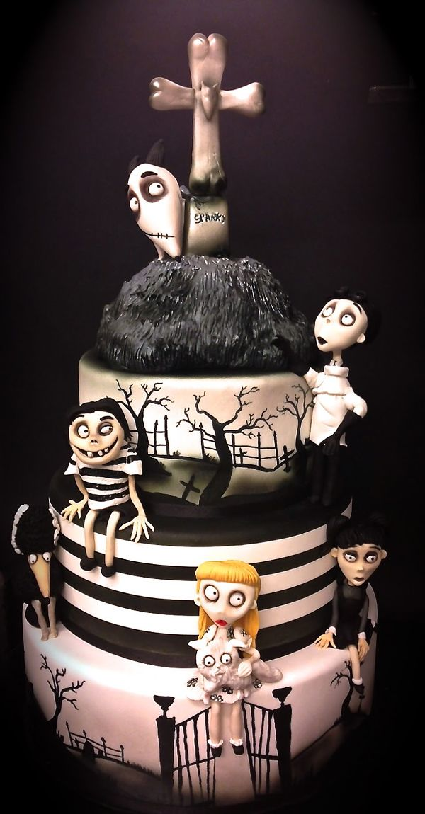 Tim Burton Frankenweenie Cake