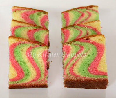 11 Photos of Colorful Marble Cakes