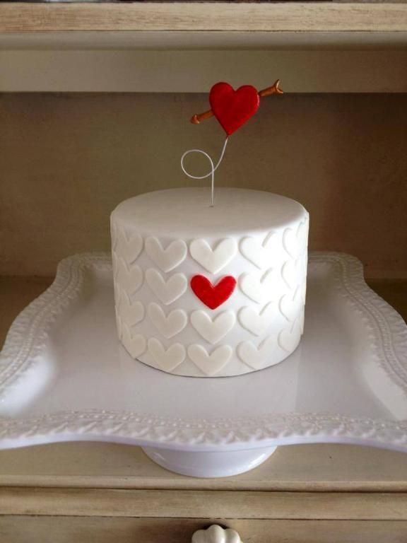 Valentine Heart Cake Decorating Ideas
