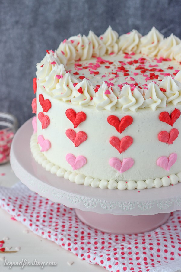 Valentine's Day Cakes with Hearts