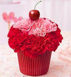 Valentine's Day Flower Cupcake