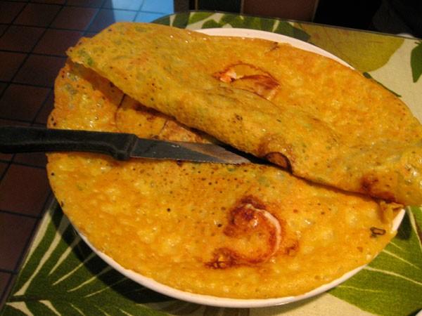 Vietnamese Shrimp with Pancakes