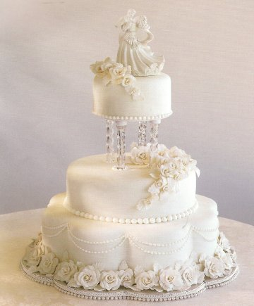 Wedding Cakes with Fondant
