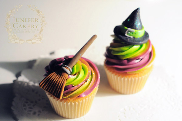 Witches Hat Halloween Cupcake Decorating Ideas